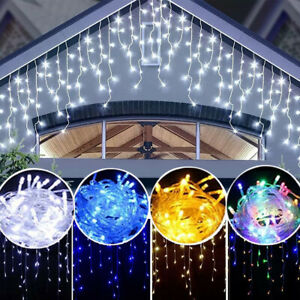 LED Waterfall Icicle String Lights Fairy Lamp Christmas Party Outdoor Home Decor