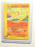 NINETALES - 25/147 - Aquapolis - Rare - Pokemon Card - NM