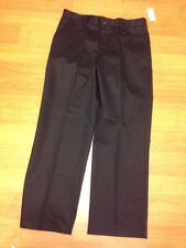 Izod Mens Pants Khaki 34x30 American Chino Flat Front Straight Fit Black New