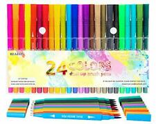 Dual Tip Brush Pen Art Markers, Calligraphy Brush Pens for Lettering, 24 Pack Br