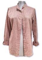 NEW, MAISON SCOTCH BEIGE/RED LINEN LONG SLEEVE SHIRT, 1, $295