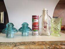 Antique Vaseline Glass Richards And Hartley Daisy Button Crossbars Celery Vase