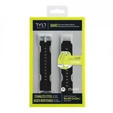 NEW Tylt Moto 360 2nd Gen Silicone Watch Band Men's 46mm - Black Moto 360 2
