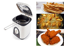 1L MINI & COMPACT SMALL KITCHEN DEEP FAT FRYER & BASKET FISH & CHIPS FRYING