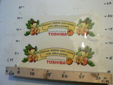 STICKER,DECAL TOSHIBA IN TOUCH WITH TOMORROW EQUIUM 3000M MINI-TOWER BIG SIZE