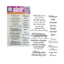Sympathy Sentiments Words Stamps Impression Obsession Cling Stamp Set CL114