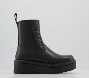 Womens Vagabond Tara Biker Boots Black Boots