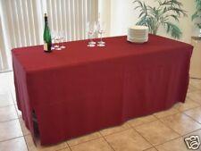 Husse bodenlang für Bankett -Tisch 185x76x71cm Weinrot, exklusive Stoffqualität