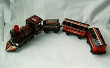 Old Haji Japan Tin Train Set battery operated toy electric motor union pacific