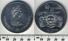 Canada 1974 - 10 Dollars Silver Coin - Queen Elizabeth II - 1976 Olympic Games