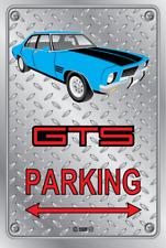 Parking Sign - Metal - HOLDEN HQ - GTS 4 DOOR - BLUE - WELD WHEELS