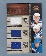 2011-12 CROWN ROYALE NEW YORK RANGERS TRIPLE JERSEY CARD MARK MESSIER