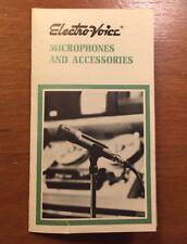 ELECTRO-VOICE 1140 MICROPHONES AND ACCESSORIES ORIGINAL BROCHURE P157