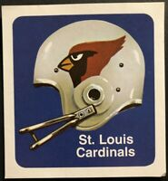1970 ST LOUIS CARDINALS Football Sticker Decal ORIGINAL 1970's EX-MINT Condition
