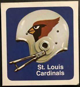 1970 ST LOUIS CARDINALS Football Sticker Decal ORIGINAL 1970's EX-MINT Condition