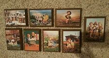 Lot of 8 Wood Hummel Wall Hanging Pictures Made in U.S.A. Collectible Plaques