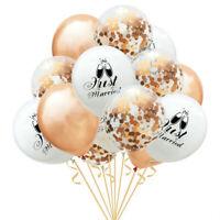 15x Just Married Latex Balloons Confetti Balloon Bride Balon Wedding Party Decor