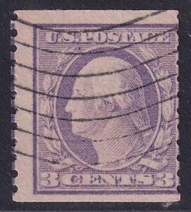 US STAMP 456 3c violet Washington 1916 Used COUNTERFEIT STAMP