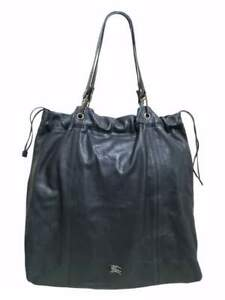 BURBERRY ELMGATE XL LEATHER DRAWSTRING TOTE / SHOPPING SHOULDER BAG - AUTHENTIC
