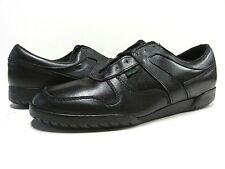 NOS Hanover Athletic Sneaker 10 M VTG Black Leather Shoe