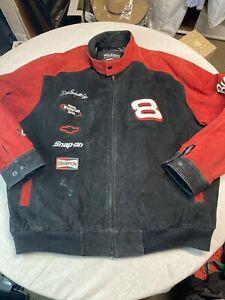 Dale Earnhardt Jr Budweiser #8 Mens NASCAR Wilsons Leather Jacket Coat XXL