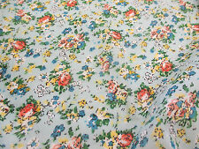 """Sky """"Tea Party"""" Summer Floral Printed 100% Cotton LAWN/VOILE Fabric"""