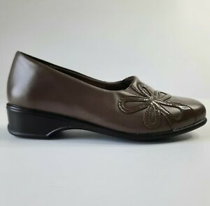 Homyped Essentials Womens Shoes Size AU 7 Brown Low Heel Comfort Cushioned