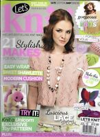 Let's Knit Magazine Patterns Easy Wrap Summer Knits Modern Cushion Corsage 2012