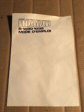 Luxman r-1030/1035 - Mode d'emploi/Mode d'emploi (français)