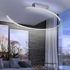 Design LED Decken Lampe Wohn Ess Zimmer Strahler Chrom Leuchte gebogen Ring WOFI