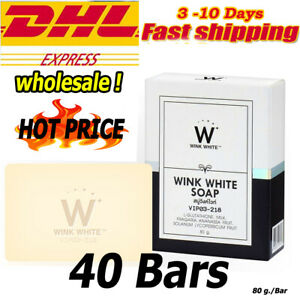 40x Wink White G l u t a Pure Soap Whitening Cleansing Face Lightening Brighten