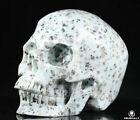 """Huge 5.0"""" Lotus Jasper Carved Crystal Skull, Realistic, Crystal Healing"""