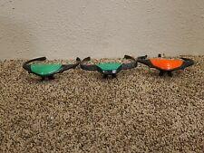 Hasbro Nerf Fire Vision Glasses Green Light Up Headset C-244C Lot of 3