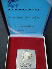 "Croatia, Table Tennis - ""Croatian Open '96"" medal with letter of thanks, 1996"