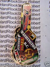 2005 HARD ROCK CAFE WASHINGTON DC GUITAR CASE SERIES/TRAVEL STICKERS LE PIN