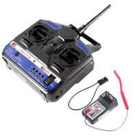 Flysky 2.4G 4CH Radio Model RC Transmitter & Receiver  US STOCK Y9U0