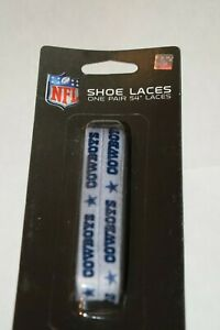 Dallas Cowboys 54'' SILVER Shoe Laces 1 Pair NFL Laceups New With Tags