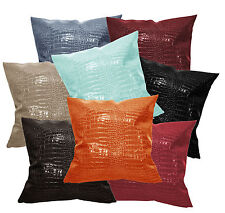 pd+8 Colors Crocodile Skin Glossy Leather Cushion Cover/Pillow Case Custom Size