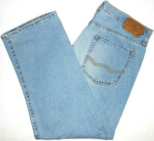 33x30 American Eagle Outfitters Loose Fit Blue Jeans 100% Cotton Mens Denim