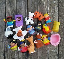 Fisher Price Little People Lot Batman Animals Airplane Car Students Lot of 17