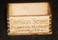 Dollhouse Miniature Division Street Farmers Market Produce Crate 1:12 Illinois