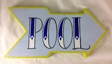 Handmade Hand Painted Wooden Pool Arrow Sign Home Bar Decor Wood Tattoo Unique