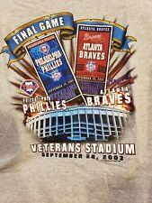 Philadelphia Phillies VS Braves Final Game At Veterans Stadium Short Sleeved NEW