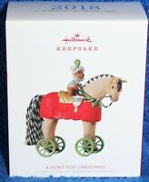 A PONY FOR CHRISTMAS HALLMARK ORNAMENT 2018 #21 IN THE PONY SERIES NEW IN BOX
