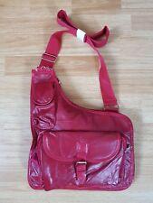 BNWT: Red Lesther Patchwork Messenger/cross Body Handbag: zip/buckle fasten