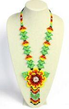 #Ne812 Exciting Original Big Flower Necklace Crystals Glass Bead Graceful Design