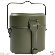Army Soldier Military Mess Kit Lunch Box Canteen Kettle Pot Food Cup Bowl Set