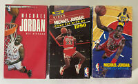 Michael Jordan NBA VHS Tape Lot of 3 Come Fly With Me & His Airness Vintage 90's