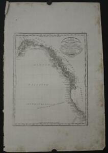 NORTHWESTERN AMERICA UNITED STATES CANADA 1820 LUIGI ROSSI UNUSUAL ANTIQUE MAP