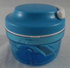 Tupperware D 158 Turbochef Turbo Chef 300 ml 3er Messer Hellblau Weiß Neu OVP